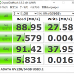 [ICT] ADATA 64GB UV128 USB 3.1 Gen 1 ベンチマーク