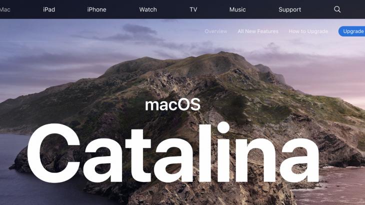 [Mac] Catalina 導入(更新)